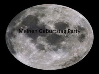 Meinen Geburtstag  Party
