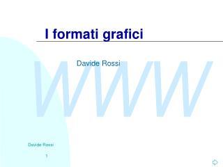 I formati grafici