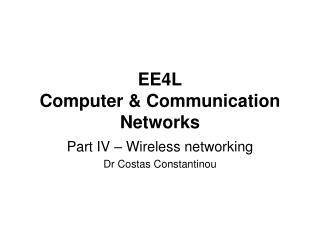 EE4L Computer & Communication Networks