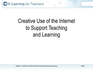 Creative Use of the Internet to Support Teaching and Learning