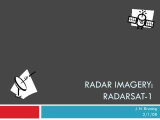 Radar imagery: RADARSAT-1