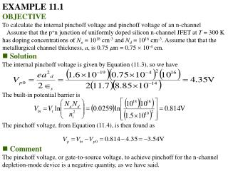EXAMPLE 11.1 OBJECTIVE