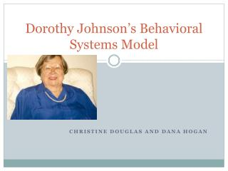 Dorothy Johnson's Behavioral Systems Model