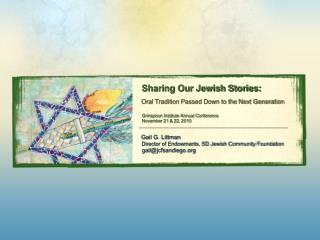 Sharing Our Jewish Stories: