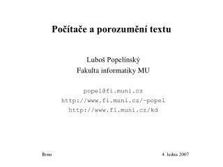 Počítače a porozumění textu