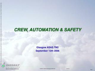 CREW, AUTOMATION  SAFETY