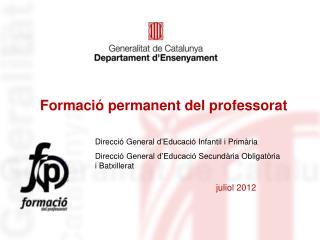 Formaci� permanent del professorat