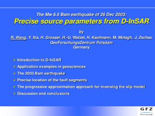 The Mw 6.5 Bam earthquake of 26 Dec 2003: Precise source parameters from D-InSAR by