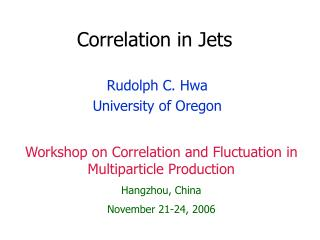 Correlation in Jets