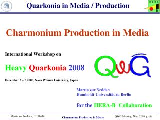 Charmonium Production in Media