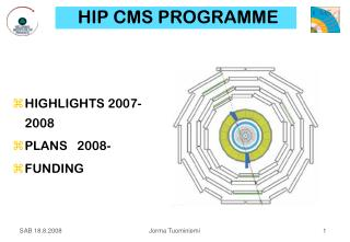 HIP CMS PROGRAMME