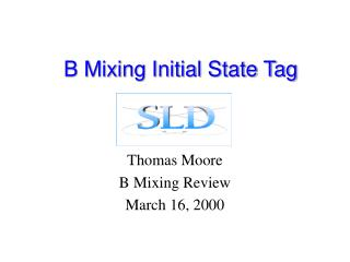 B Mixing Initial State Tag