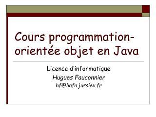 Cours programmation-orient e objet en Java