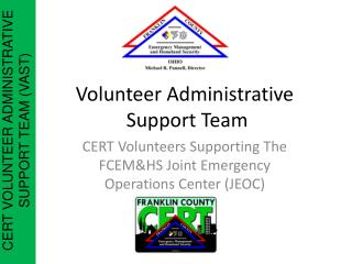 Volunteer Administrative  Support Team