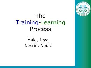 The  Training - Learning Process