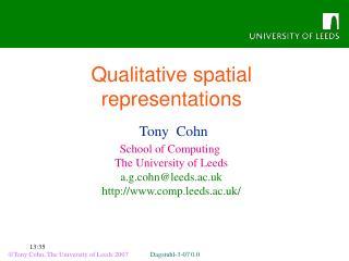 Qualitative spatial representations
