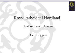 Rovviltarbeidet i Nordland