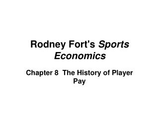 Chapter 8 The History of Player Pay