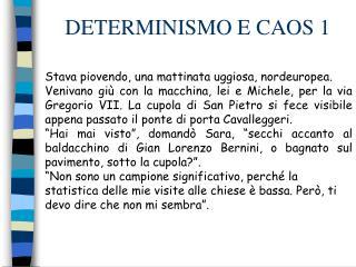 DETERMINISMO E CAOS 1