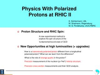 Physics With Polarized  Protons at RHIC II