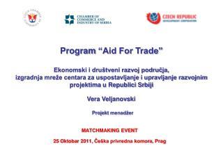 MATCHMAKING EVENT 25 O ktobar  2011,  Češka privredna komora ,  Prag
