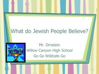 What do Jewish People Believe?