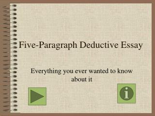 Five-Paragraph Deductive Essay