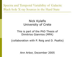 Spectra and Temporal Variability of Galactic Black-hole X-ray Sources in the Hard State