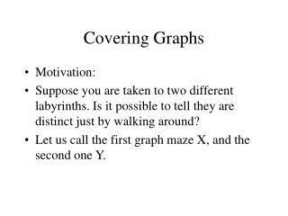 Covering Graphs