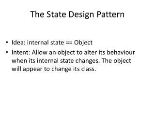 The State Design Pattern