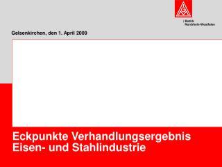 Gelsenkirchen, den 1. April 2009
