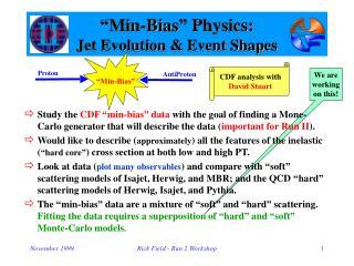 """""""Min-Bias"""" Physics: Jet Evolution & Event Shapes"""