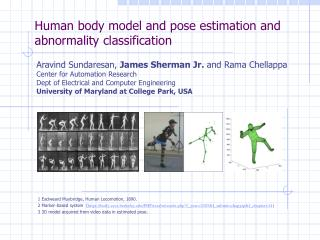 Human body model and pose estimation and abnormality classification