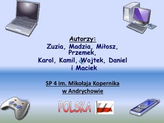 Autorzy: Zuzia, Madzia, Miłosz, Przemek,  Karol, Kamil, Wojtek, Daniel  i Maciek