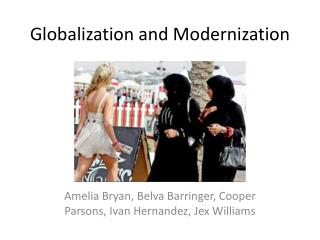 Globalization and Modernization