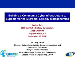 Building a Community Cyberinfrastructure to Support Marine Microbial Ecology Metagenomics