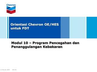 Modul 10 � Program Pencegahan dan Penanggulangan Kebakaran