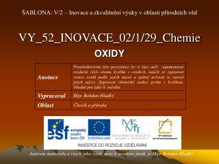 VY_52_INOVACE_02/1/29_Chemie