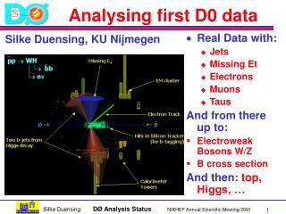 Analysing first D0 data