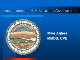Fundamentals of Vocational Assessment