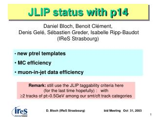 JLIP status with p14