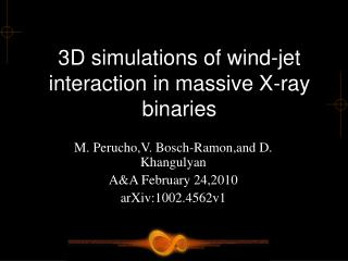 3D simulations of wind-jet interaction in massive X-ray binaries