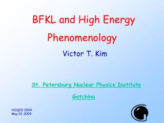 BFKL and High Energy Phenomenology
