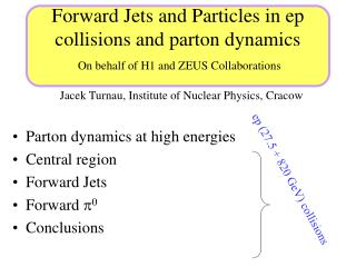 Forward Jets and Particles  in ep collisions and parton dynamics