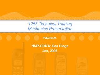 1255 Technical Training Mechanics Presentation