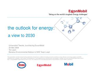the outlook for energy: