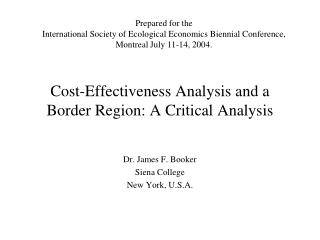 Cost-Effectiveness Analysis and a Border Region: A Critical Analysis
