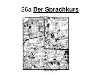26a  Der Sprachkurs