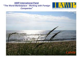 "IAWP International Panel "" The World Marketplace - Working with Foreign Companies """
