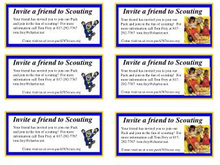 Invite a friend to Scouting